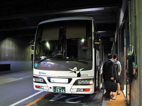 西鉄高速バス「桜島号」夜行便 4012 博多BT到着 その1