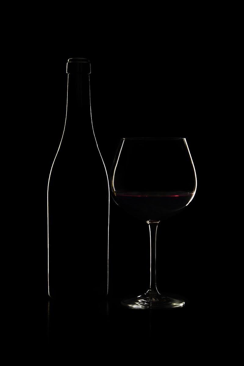 Silhouette bottiglia e bicchiere di Xena_dei_due_fiumi