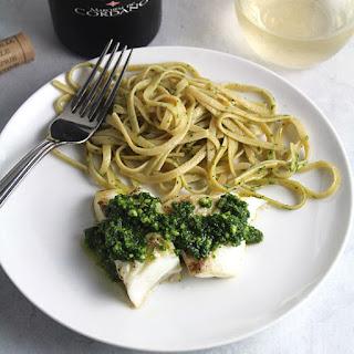 Grilled Halibut with Kale Pesto Recipe