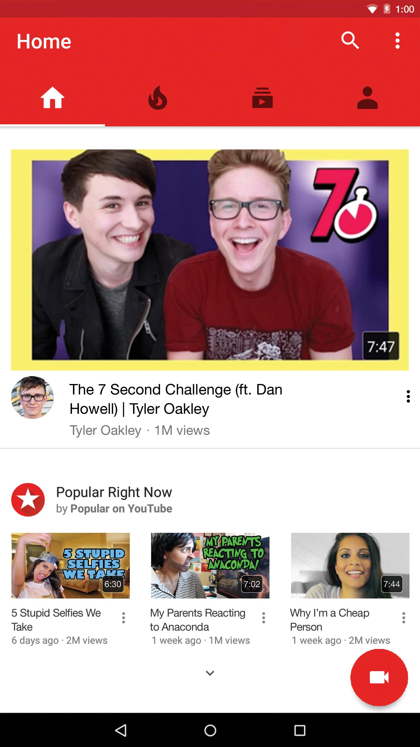 YouTube screenshot #1