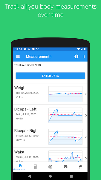 Body Measurement, Body Fat and Weight Loss Tracker