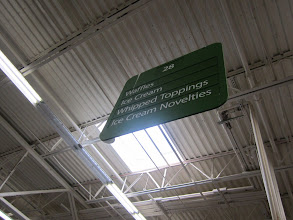 Photo: I like that at Walmart each aisle is labeled for easy to locate items you are looking for.