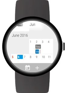Calendar for Wear OS (Android Wear)- screenshot thumbnail