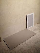 Photo: Essais couleurs sol, cimaises et murs