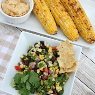 Easy Grilled Corn Salsa.