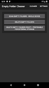 Empty Folder Cleaner App Download for Android 9