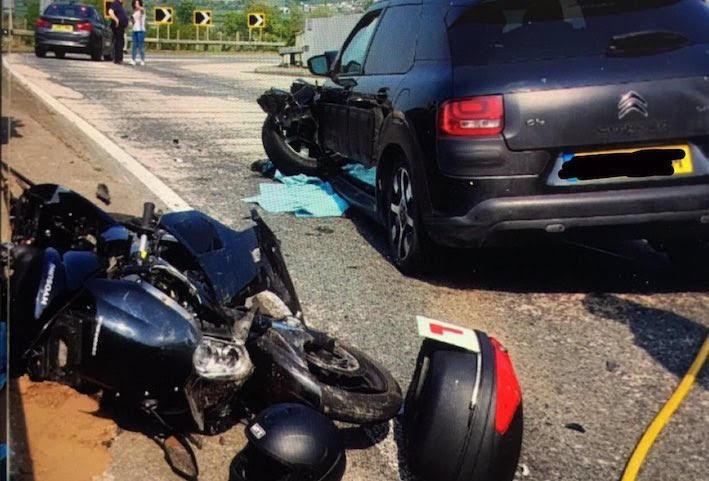 Day-tripping learner biker fined after crash