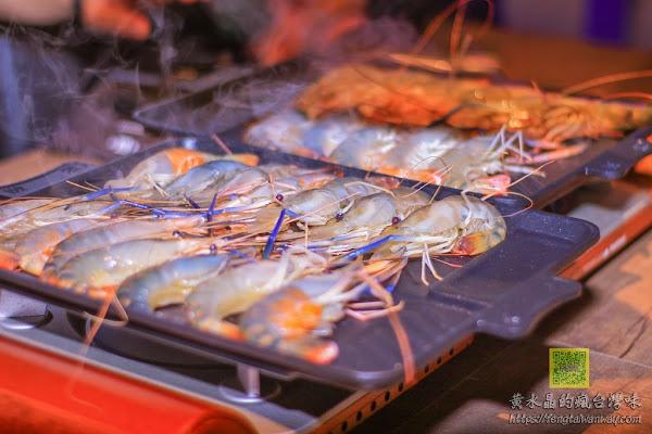 泰咁蝦水道蝦燒烤吃到飽【桃園美食】 桃園藝文特區生猛泰國蝦超人氣水道活蝦吃到飽,免費生啤喝到爽