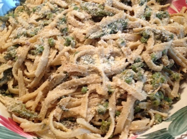 Fettuccine With Asparagus And Peas Recipe