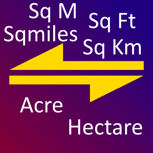 Sqm, Sqkm to Acre, Hectare, Area Converter Tool - Apps on