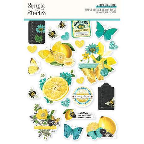 Simple Stories Sticker Book 4X6 12/Pkg - SV Lemon Twist