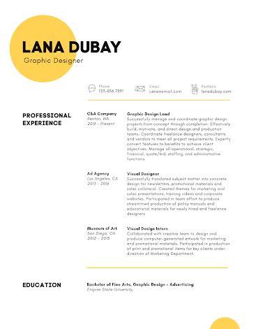 Lana M. Dubay - Resume template
