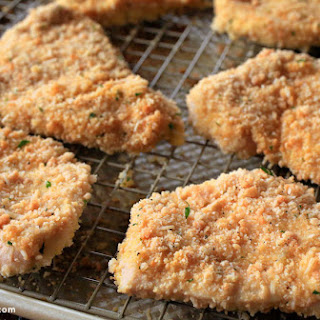 Asiago-Crusted Chicken Cutlets