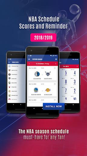 2018 NBA schedule, scores and reminder 1.0 screenshots 1