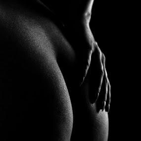 Backside by Sven Rausch - People Body Parts ( nudist, body, silhouette, alluring, nice, people, skin, sexy, slim, shadow, woman, dark, light, black, key, element, hips, boobs, breast, thin, low, torso, model, fashion, nude, chest, waist, beauty, undressed, belly, erotic, fit, girl, figure, style, attractive, sexual, topless, beautiful, muscular, young, sexually, human, leg, female, naked, background, lady, night, part )