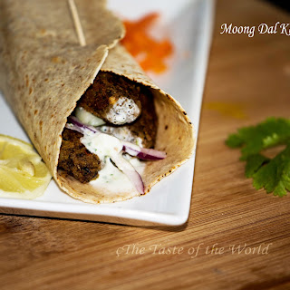 Moong Dal Kebab Wrap