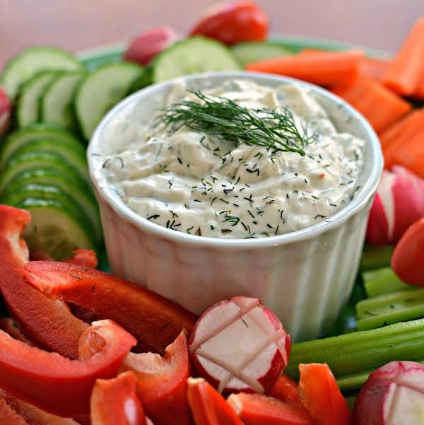 This Delicious Easy Six Ingredient Mouthwatering Dill Dip Is Made In Less Than Five Minutes And Is Always A Huge Hit At Potlucks, Family Gatherings, And Shindigs.