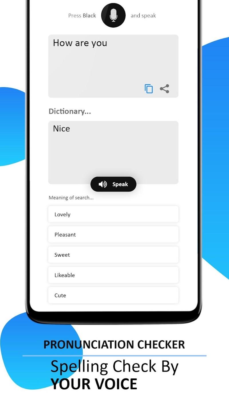 Pronunciation, Word Translator & Spelling Checker Screenshot 1
