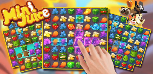 Puzzle game about candy fruit dog and cat, start addictive block crush adventure