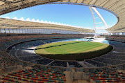 A general view of the inspectors in Moses Mabhida during Fifa inspection on September 27, 2009 in Durban, South Africa.