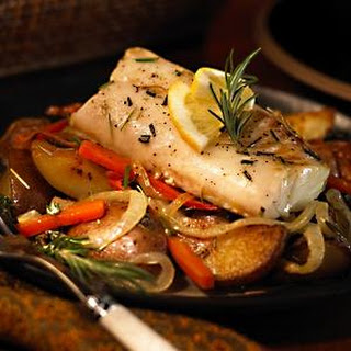 Cod with Roasted Root Vegetables
