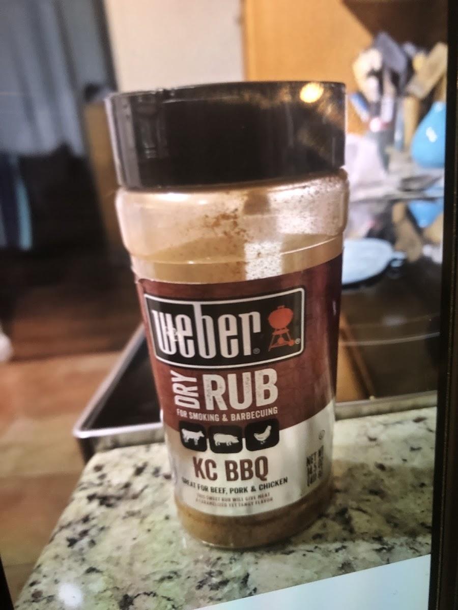 Weber dry rub KC BBQ
