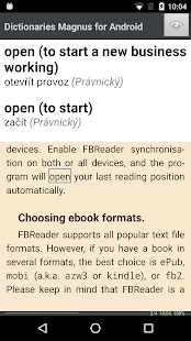 Czech Dictionaries Magnus- screenshot thumbnail