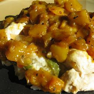 Slow Cooker Pork with Pineapple and Mango Chutney