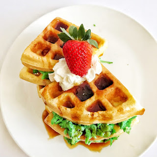 Green Eggs and Waffles Recipe