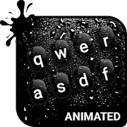 Dark Rainy Animated Keyboard