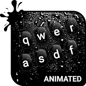 Dark Rainy Animated Keyboard