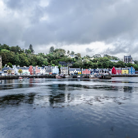 TOBERMORY by Alistair Forrest - Landscapes Travel ( harbour, isle of mull, tobermory, houses, scotland )