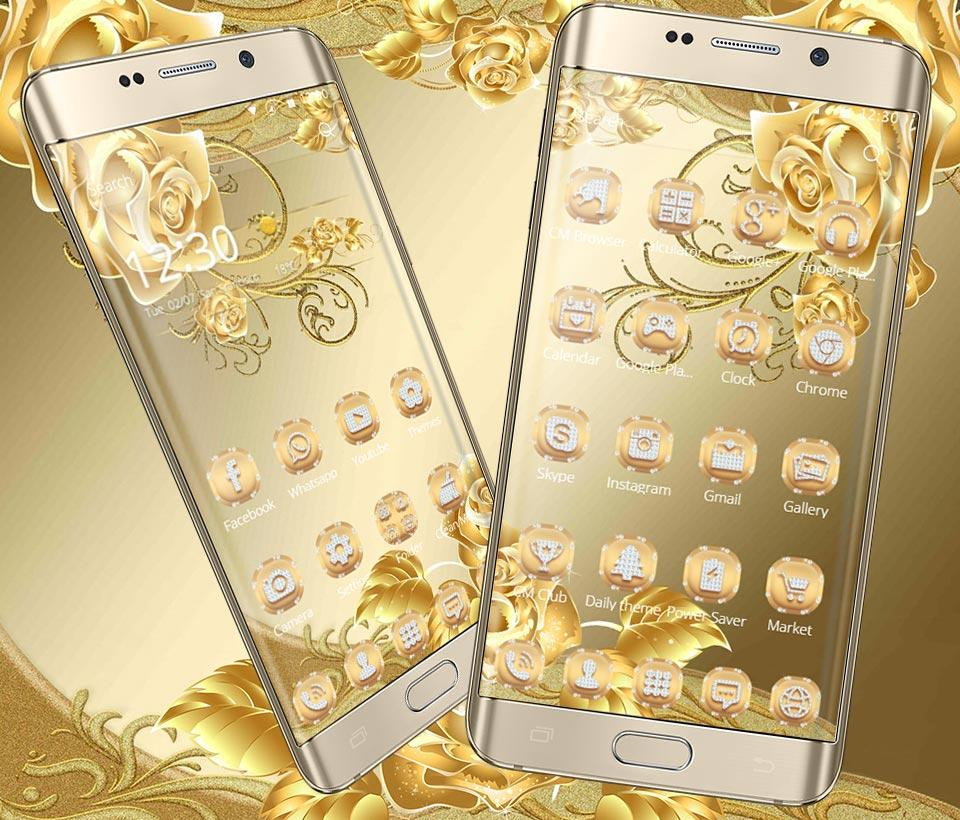 Gmail mobile theme - Gold Rose Theme Luxury Gold Screenshot