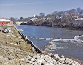 Photo: River access improvement work has begun.