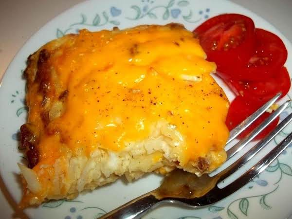 ~ Bacon & Egg Hash Brown Breakfast Casserole ~ Recipe