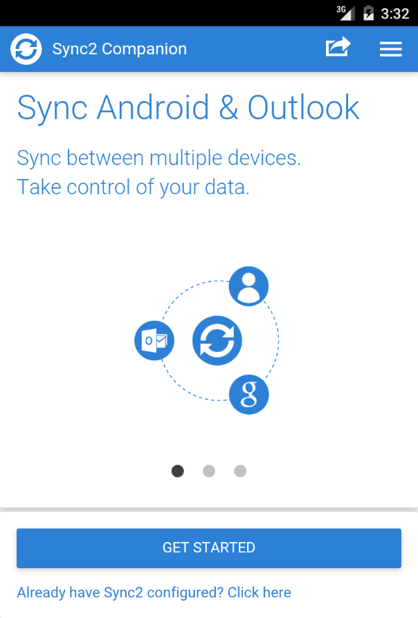 Sync2 Outlook Google Companion- screenshot