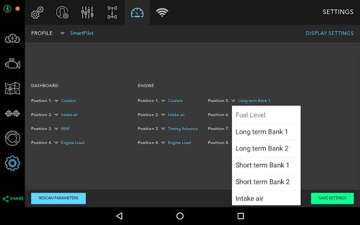 DashPilot (OBD ELM Realtime) Aplicaciones para Android screenshot