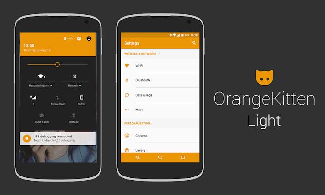 [substratum] OrangeKitten - screenshot