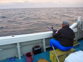 Photo: 「釣り王」も1投目から!