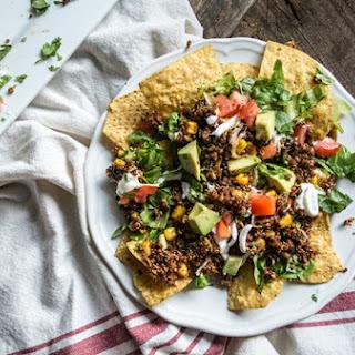 Vegetarian Quinoa and Black Bean Nachos