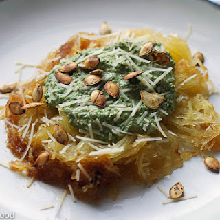 Spaghetti Squash with Kale & Brazil Nut Pesto
