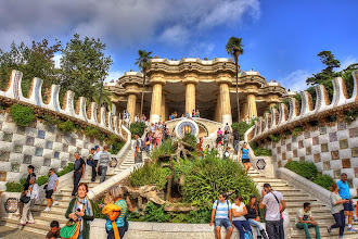 Photo: Gaudi's Guell Park in Barcelona.