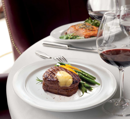 Oceania-Polo-Steak.jpg - A steak entrée served  at the Polo Grill on Oceania Cruises.