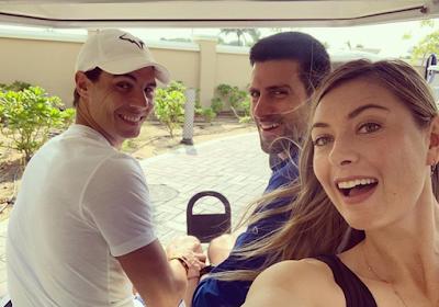 Maria Sharapova, Novak Djokovic en Rafael Nadal vertoeven in Qatar