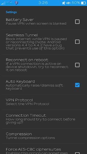 SmartNetFiberX VPN screenshot 6