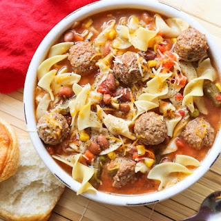 Easy Crockpot Meatball Soup