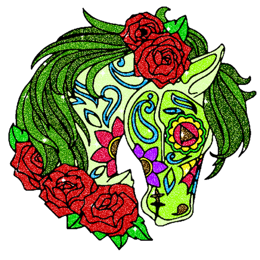 Glitter Color by Number - Relaxing Coloring Pages Icon