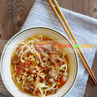 SWEET AND SPICY NOODLE BEEF NOODLE