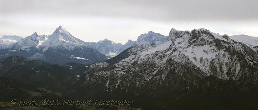 Photo: AUGENblicke: Panorama  vom Gaisberg.  Blick zum Watzmann-massiv (links) - Unterberg (rechts)