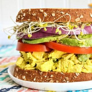 Avocado Turmeric Chicken Salad Sandwich.